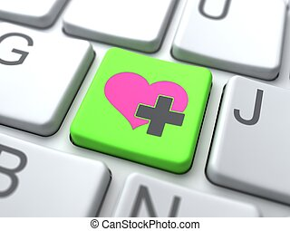 Social Media ConceptOnline Love Button on Keyboard