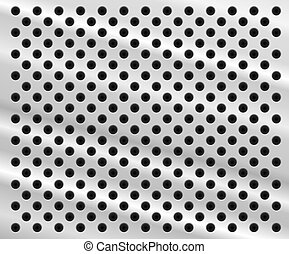 Perforated metal background - Background in form of aluminum...