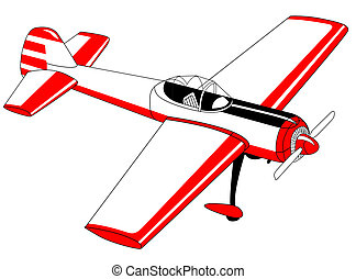 plane drawing on white background,