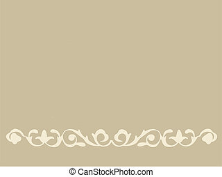 ornament on brown background