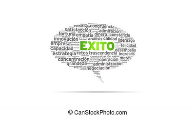Exito - Spinning Exito Speech Bubble