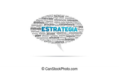 Estrategia - Spinning Estrategia Speech Bubble