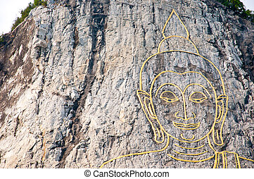 rock mountain - Buddha laser on the rock mountain