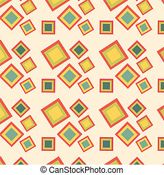 Retro squares seamless pattern