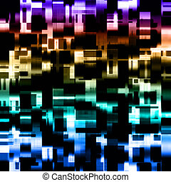 Futuristic powerful background pattern