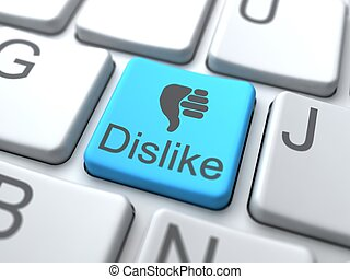 Dislike Web Button. Social Media Concept.