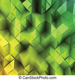 Green triangle abstract. Vector background