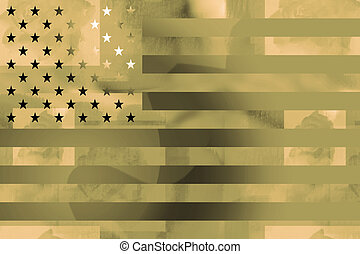 US flag military background - American flag military styled...