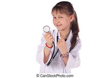 Doktor, m�dchen, kind