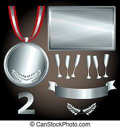 Silver elements for games and sports - Great sports and...