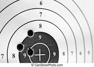 black and white paper target