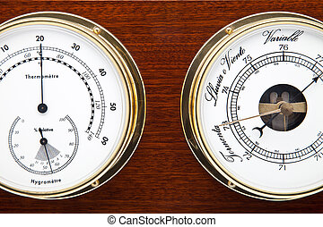 barometer - tool to measure time and temperature