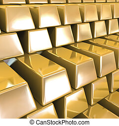 Gold Bars. Vector background