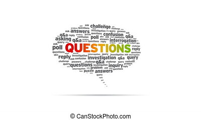 Questions - Spinning Questions Speech Bubble