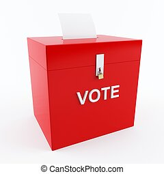Ballot box - 3D rendering of a voting box