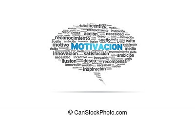 Motivacion - Spinning Motivacion Speech Bubble