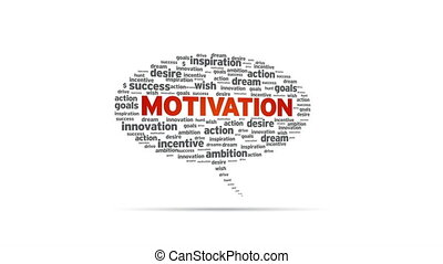 Motivation - Spinning Motivation Speech Bubble