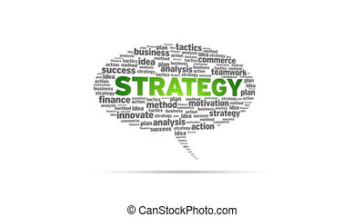 Strategy - Spinning Strategy Speech Bubble