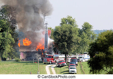 Old House on Fire