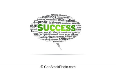 Success - Spinning Success Speech Bubble