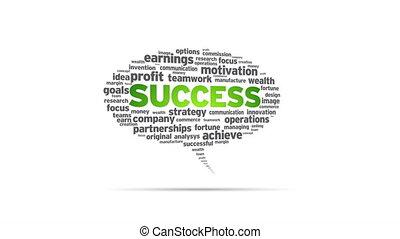 Success - Spinning Success Speech Bubble