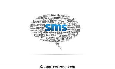 SMS - Spinning SMS Speech Bubble