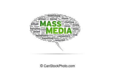 Mass Media - Spinning Mass Media Speech Bubble