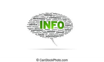 Info - Spinning Info Speech Bubble