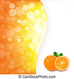 Orange Background With Orange, Vector Illustration