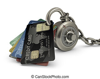 Credit Card Safety - Credit card stuck in a lock code...