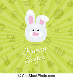 Easter Card, Vector Illustration