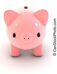 Piggy bank - Illustration of a piggy bank.