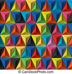 Multicolored geometric pattern - Editable modern vector...