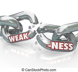 Weakness Word on Breaking Weak Chain Links - The word...