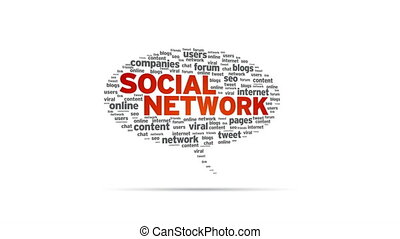 Social Network - Spinning Social Network Speech Bubble