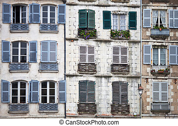 Bayonne - houses in the city of Bayonne in France