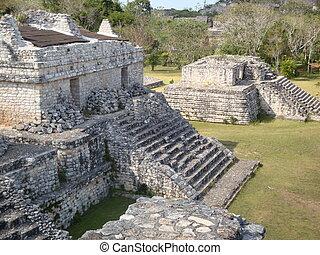 Ruins at Ek Balam in the Yucatan Peninsula of Mexico
