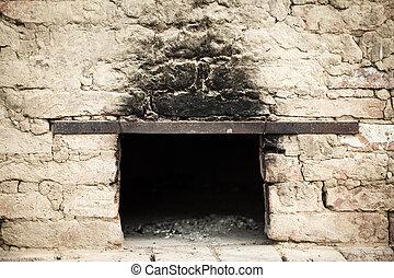 antigüedad, ladrillo, horno