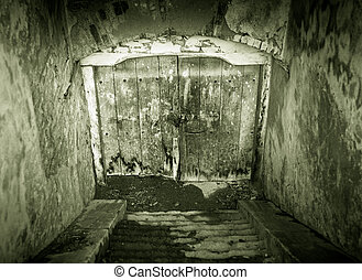Grunge basement entrance - Creepy looking grunge basement...