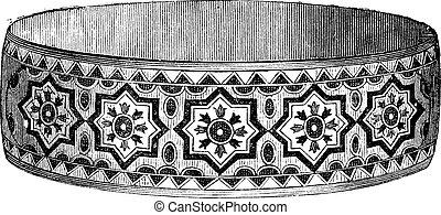 Star design modern bracelet vintage engraving