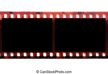 Textured film frame with space