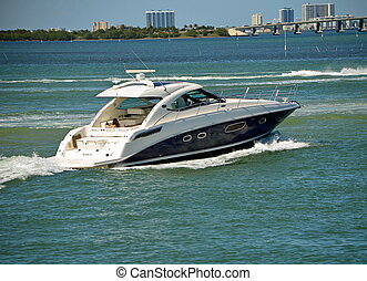 Cabin Cruiser - Luxury cabin cruiser on the florida...