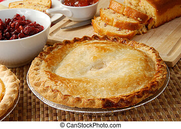 Apple pie and holiday treats