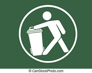 Sign of Keep Clean and Litter bin