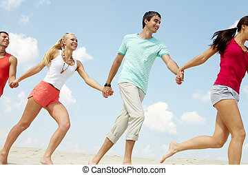 Running on beach