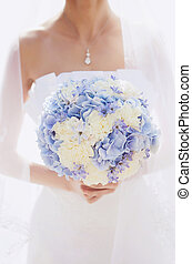 bridal bouquet - beautiful blue bridal bouquet