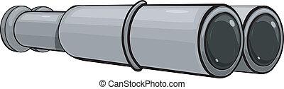 Vector image of binoculars