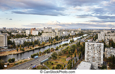 Dnieper embankment - Kiev - the capital of Ukraine View of...
