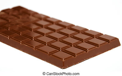milk chocolate bar on white background