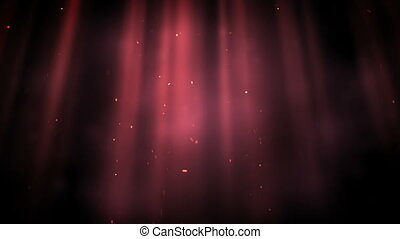 Bright points appearing in a pink ray